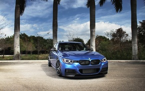 Picture blue, BMW, BMW, blue, tuning, F30, The 3 series
