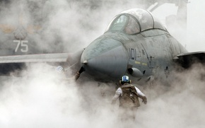 Wallpaper smoke, Fighter, the carrier