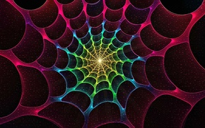 Picture light, color, web, the tunnel