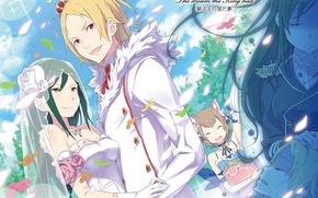 Picture art, pair, wedding, Zero no Tsukaima