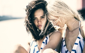 Wallpaper friendship, two girls, friend, HANNAH, CAROLINE