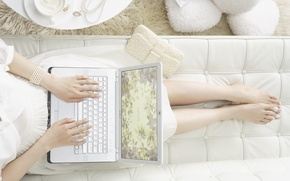 Picture white, laptop, Sony, Vaio