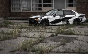 Picture BMW, Tuning, BMW, winter, Alpina, E38, arctic camo, camo, 74l