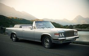 Picture road, mountains, background, Wallpaper, Bay, convertible, ZIL, 41044