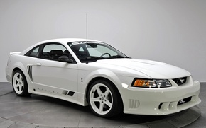 Picture white, Mustang, Ford, Saleen, Mustang, white, 1999