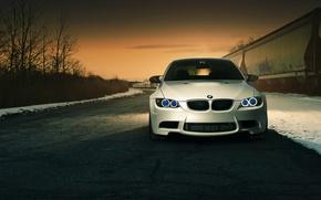 Picture BMW, white, front, E92