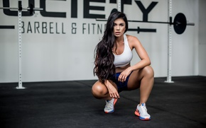 Picture look, girl, face, hair, sports, sitting, Luz