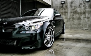 Picture auto, BMW, headlight, bmw m5, autowalls