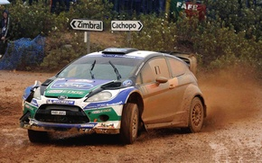 Picture Ford, Auto, Sport, Machine, Rain, Ford, Race, Dirt, WRC, Rally, Fiesta, The front, Overcast
