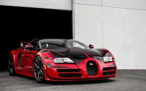 Picture Bugatti, Grand, Veyron, Sport, Rouge, aka, Hellbug, Speed Gold