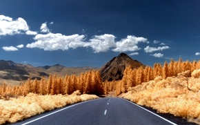 Picture road, the sky, mountain
