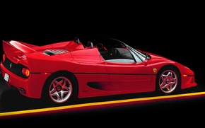 Picture spider, red, supercar, Ferrari F50