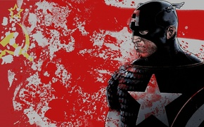 Picture captain, America, of the Soviet Union.red