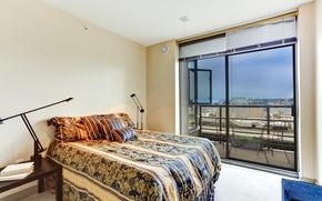 Picture bed, interior, balcony, bedroom