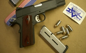 Wallpaper Colt, cartridges, colt, clips, custom, 1911, medal, ribbon, goverment, caspian arms ltd, Association of practical ...