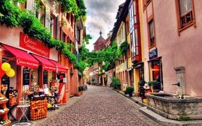 Picture street, HDR, Switzerland, Switzerland, shop, Houses