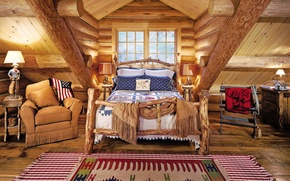 Picture room, interior, bedroom, country style