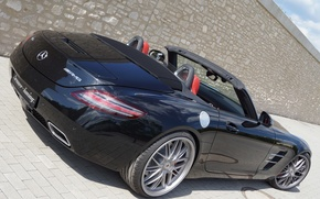Picture machine, Roadster, Mercedes-Benz, Mercedes, AMG, SLS, back, Senner Tuning