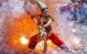 Picture dance, Taiwan, folk parade