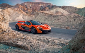 Picture McLaren, Orange, Carver, Front, Death, Sand, Supercar, Valley, Hypercar, Exotic, Canyon, Volcano