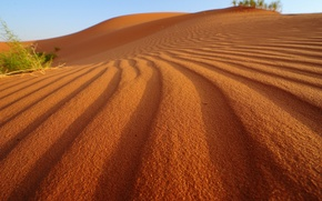 Picture sand, the sky, nature, desert