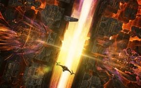 Picture flight, fusion, reactors area