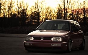 Wallpaper Vag, VolksWagen, Clean, Golf, Stance, mk3