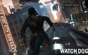 Picture Gun, Train, Nvidia, Playstation, Phone, Hacker, Xbox, Cap, Watch Dogs, 2014, Aiden Pearce, Helicopter Hacked