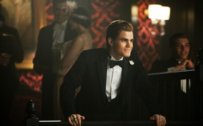 Wallpaper vampire, Paul Wesley, guy, Stefan Salvatore, actor, The Vampire Diaries, the vampire diaries