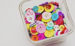 Picture colored, buttons, a lot, different