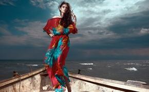 Picture Daniel Ilinca, wave, boat, girl, Glamazons