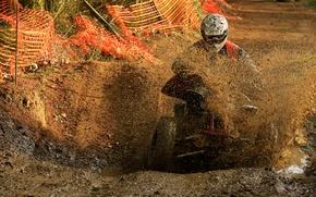 Wallpaper ATV, dirt, speed, track, race