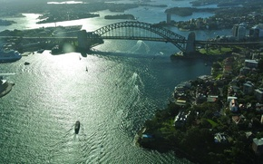 Picture Sydney, akvatoriya., Harbour Bridge, bridge, Sydney Harbour Bridge, Sydney, the city, Australia, Australia