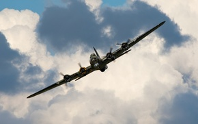 """Picture the sky, bomber, the plane, American, heavy, during the Second world war, B-17, """"Flying fortress"""""""