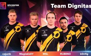 Picture team, global offensive, denmark, cs:go, dignitas, msl, rubino, k0nfig, magiskboy, cajumb, epicenter
