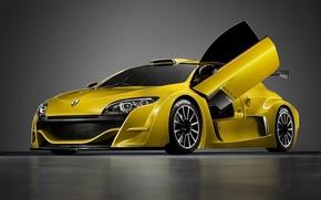 Wallpaper machine, renault megane trophy, cars yellow Renault Megane
