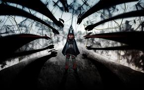 Picture magic, witch, the battle, red eyes.shadows, Sayaka Miki, Mahou shoujo Madoka magica