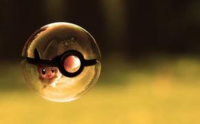 Wallpaper ship, ball, pokemon, glass