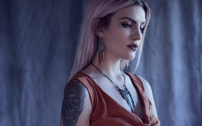 Picture girl, tattoo, Emily