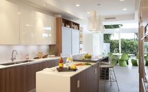 Picture furniture, interior, table, interior, design, window., chairs, kitchen