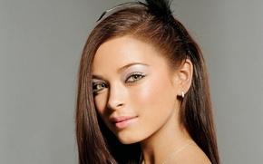 Picture look, girl, background, portrait, makeup, actress, hairstyle, girl, background, view, hair, actress, Kristin Kreuk, Kristin …