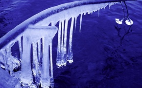 Wallpaper icicles, water, Ice, winter