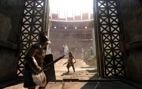Picture weapons, gate, arena, Colosseum, gladiators, Ryse: Son of Rome