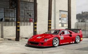 Picture Red, Retro, Tuning, Ferrari, F40, Car, Metallic, by Michelotto Pininfarina, LM, 1988-94, 1994 Ferrari F40 …