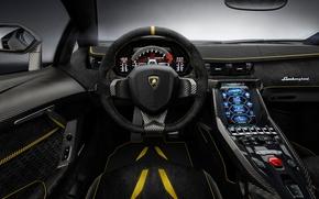 Picture machine, interior, salon, Lamborghini Centenary