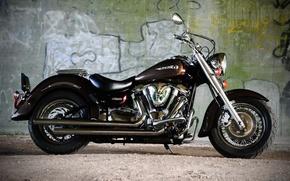 Picture design, motorcycle, bike, Yamaha, XV1600, Wildstar