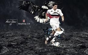 Picture wallpaper, sport, football, player, Mario Gomez, Besiktas JK
