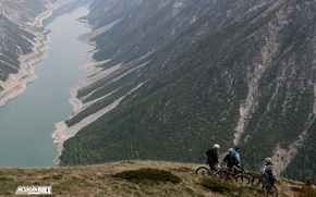Picture mountains, bike, lake, cute, beautiful