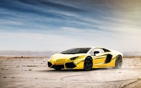Picture the sky, reflection, Lamborghini, Lamborghini, Lamborghini, LP700-4, Aventador, Aventador, LB834, Golden chrome, Project AU79, Chrome …