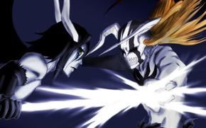 Picture anime, battle, Bleach, the arrancar, ulquiorra, Hollow Ichigo